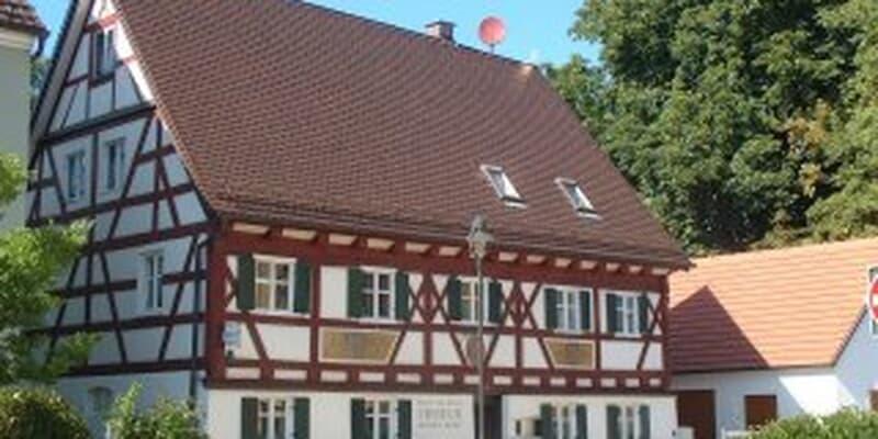 Historische Fassaden alter Fachwerkhäuser Wertingen
