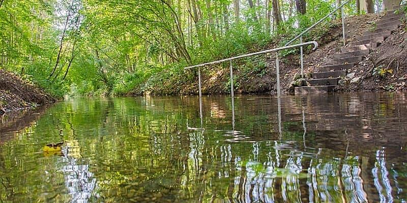 Naturkneippanlage im Auwald an der Donau