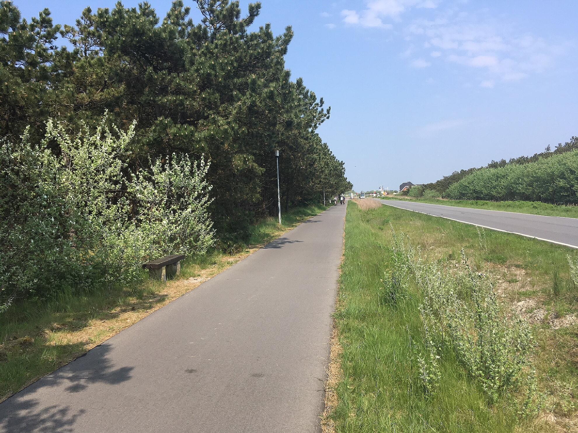 Fahrradweg in Rantum