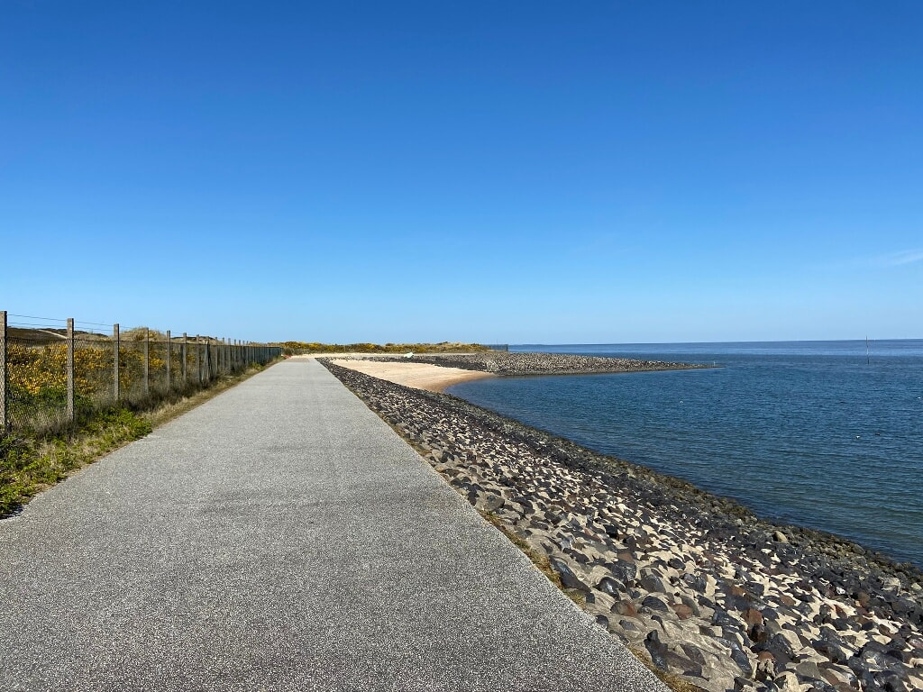 Weg am Wasser gen Norden in Hörnum