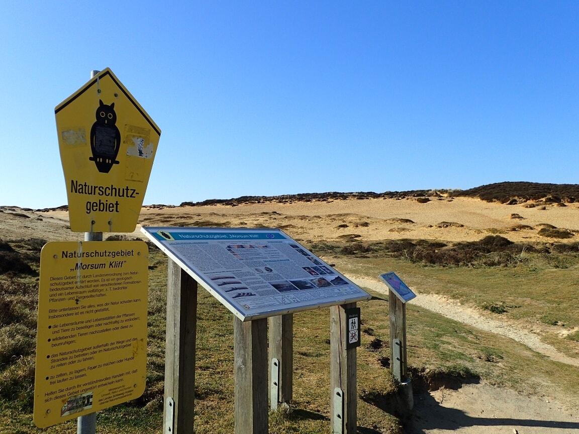 Das Kliff ist als Naturschutzgebiet geschützt