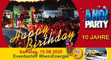 "10 Jahre AHOI-Party ""Happy Birthday"""