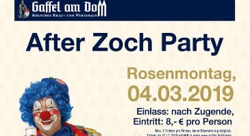 After-Zoch-Party am Rosenmontag