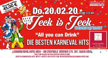 """ALL YOU CAN DRINK"" Weiberfastnacht 2020 im Leonardo Royal Hotel Köln"
