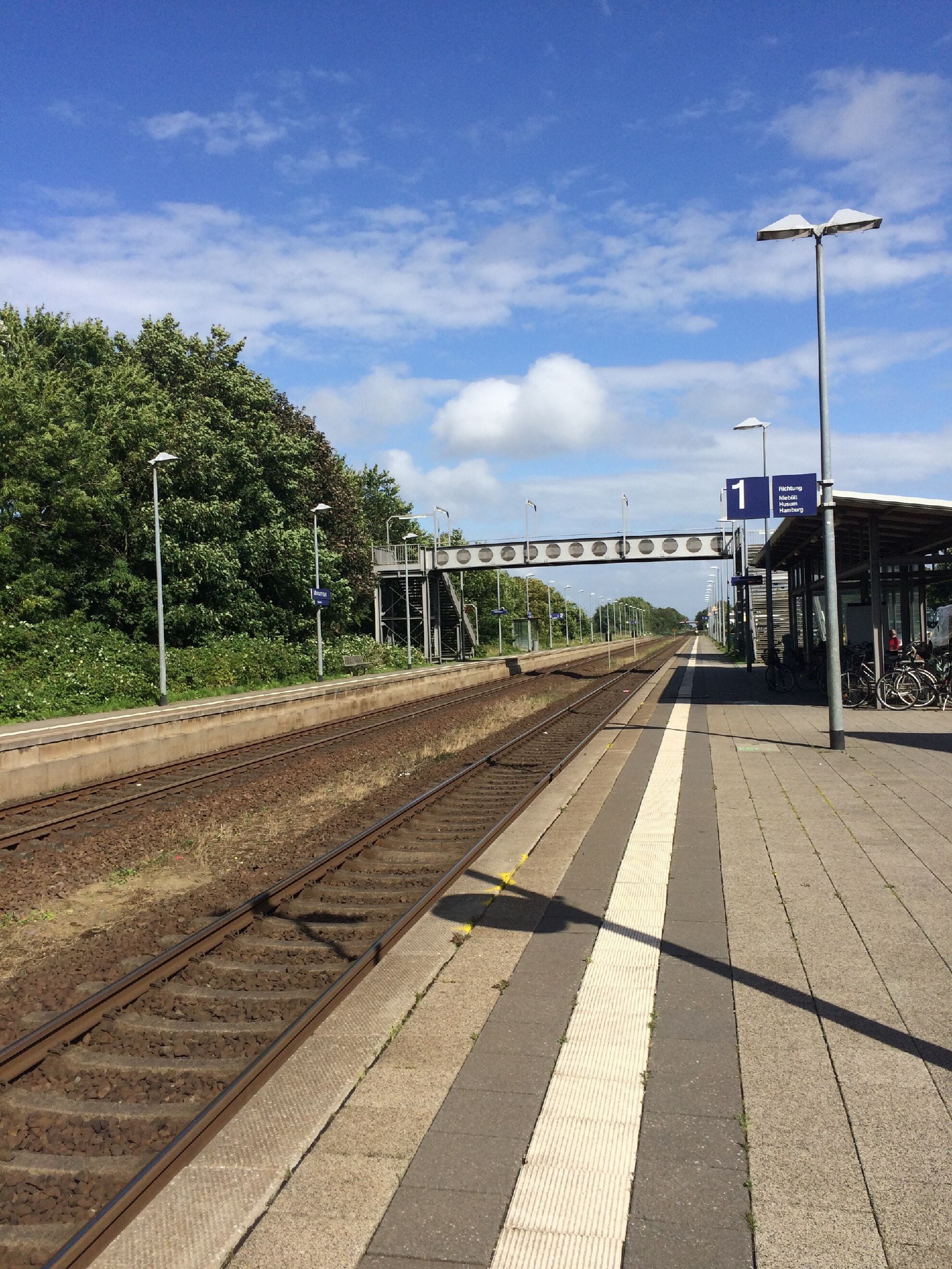 Gleis 1 am Morsumer Bahnhof