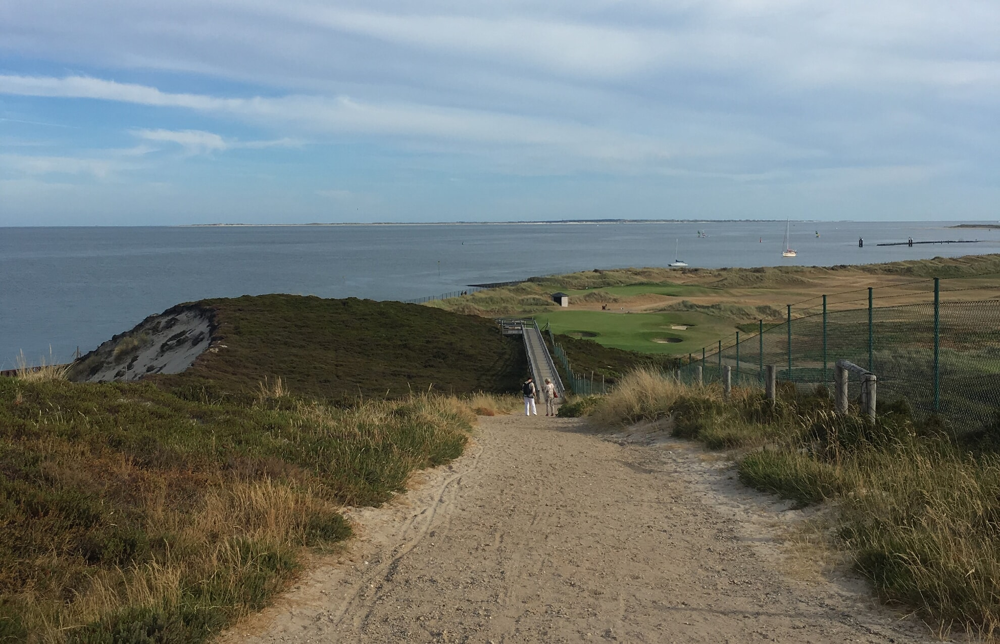 Blick auf den Hörnumer Golfplatz