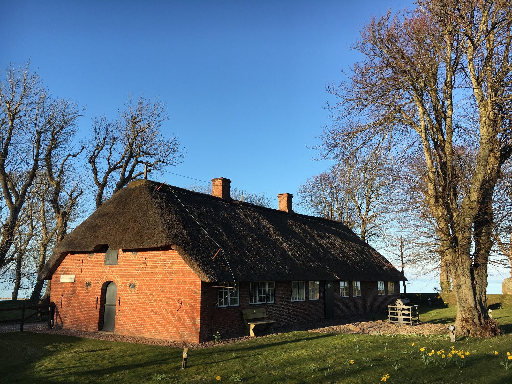 Altfriesisches Haus in der Abendsonne