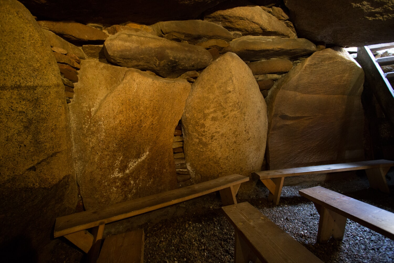 Grabkammer im Steinzeitgrab Denghoog