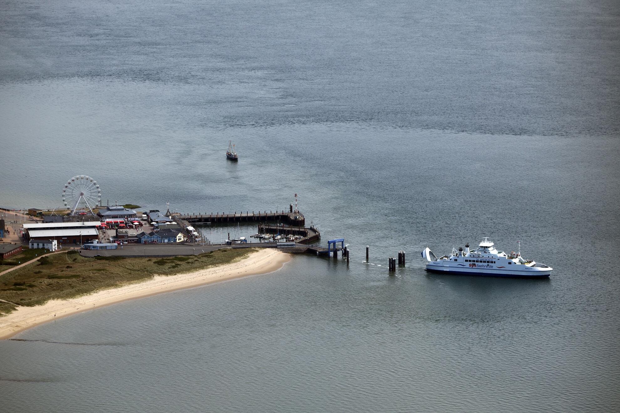 Hafen List auf Sylt aus der Vogelperspektive