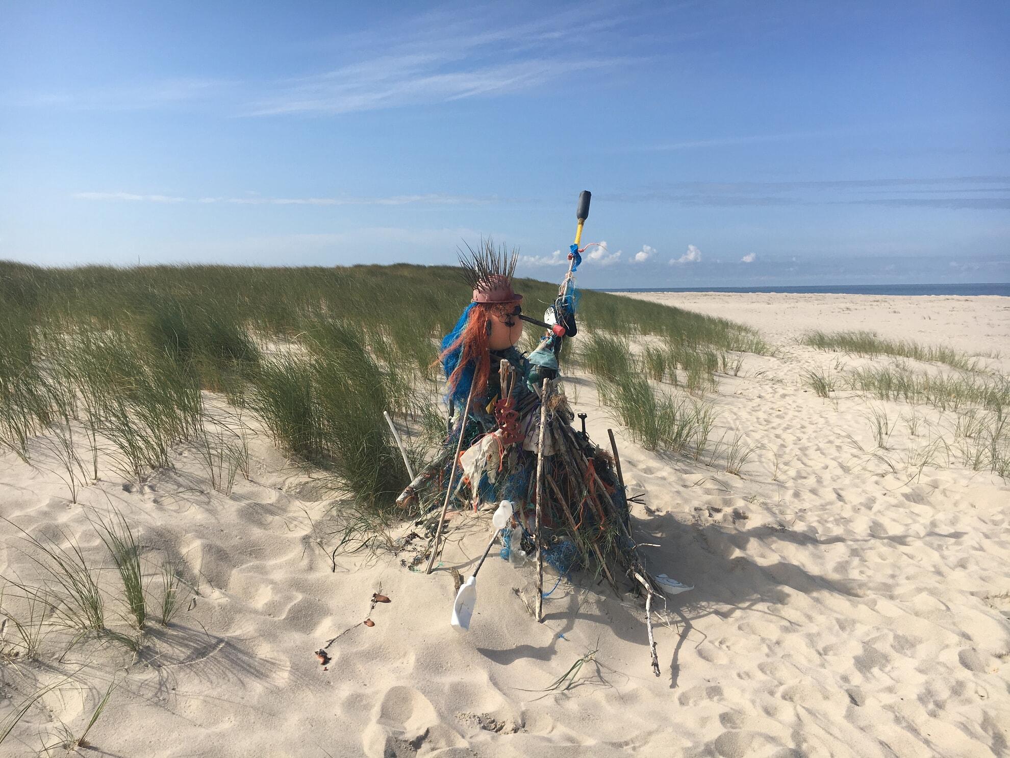 Strandgutskultpur am Nördlichsten Punkt Deutschlands
