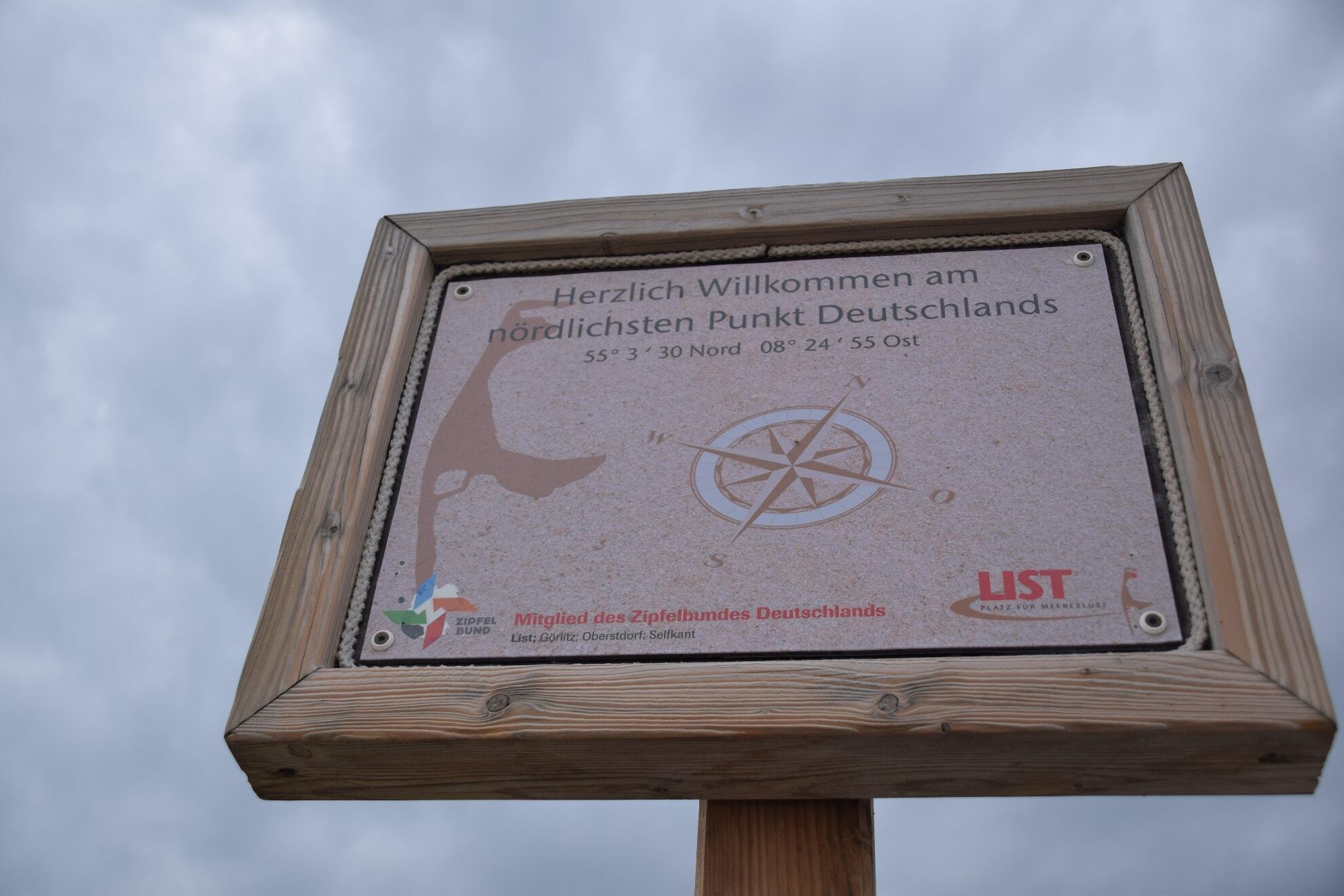 """Das Schild """"Nördlichster Punkt Deutschlands"""""""