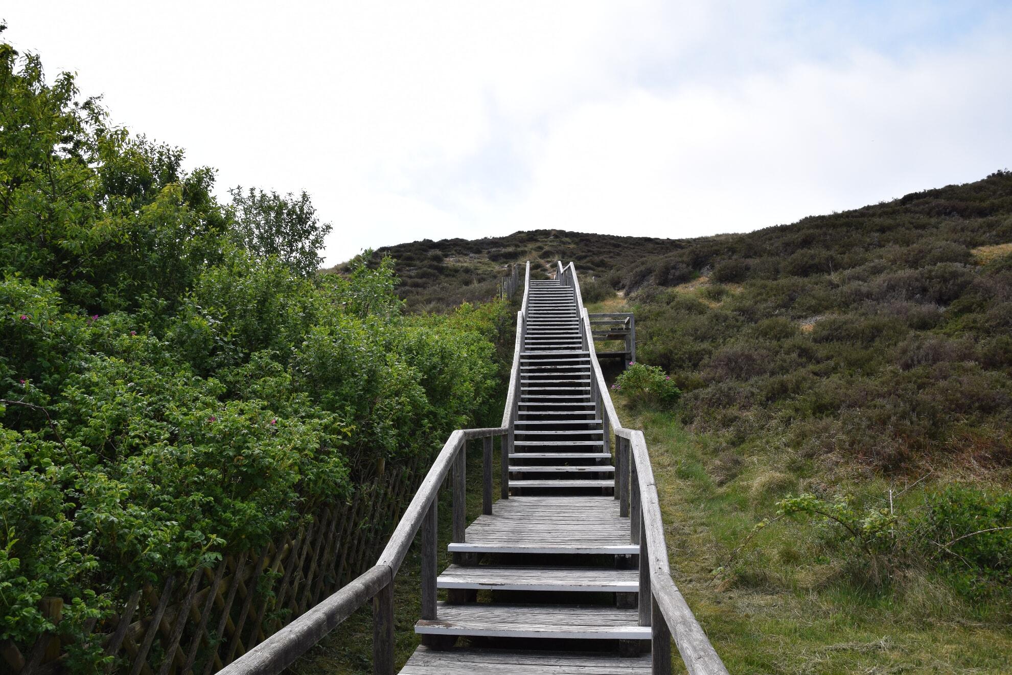 Treppe zum Aussichtspunkt