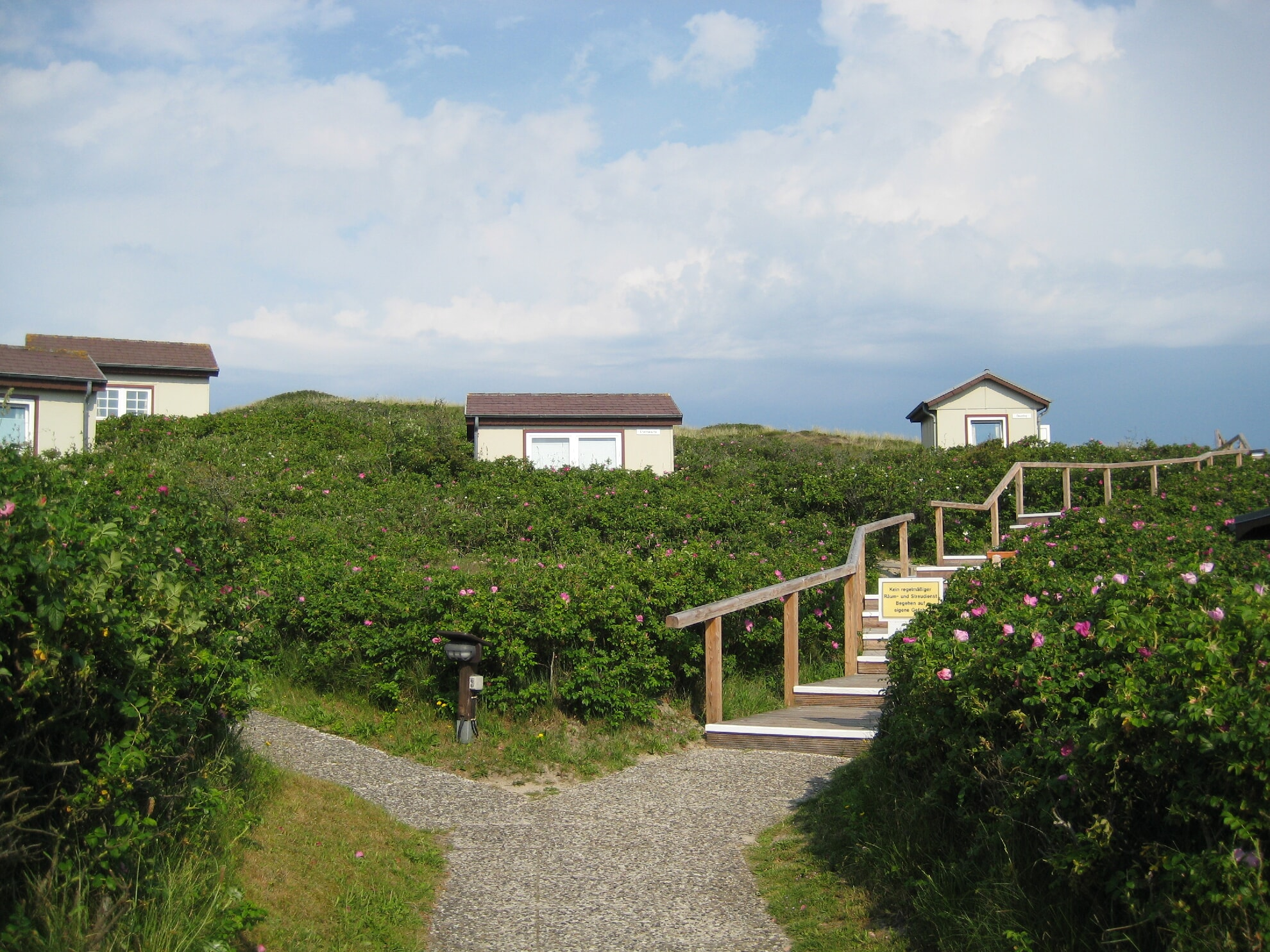 Die kleinen Wohnhäuser der Akademie am Meer