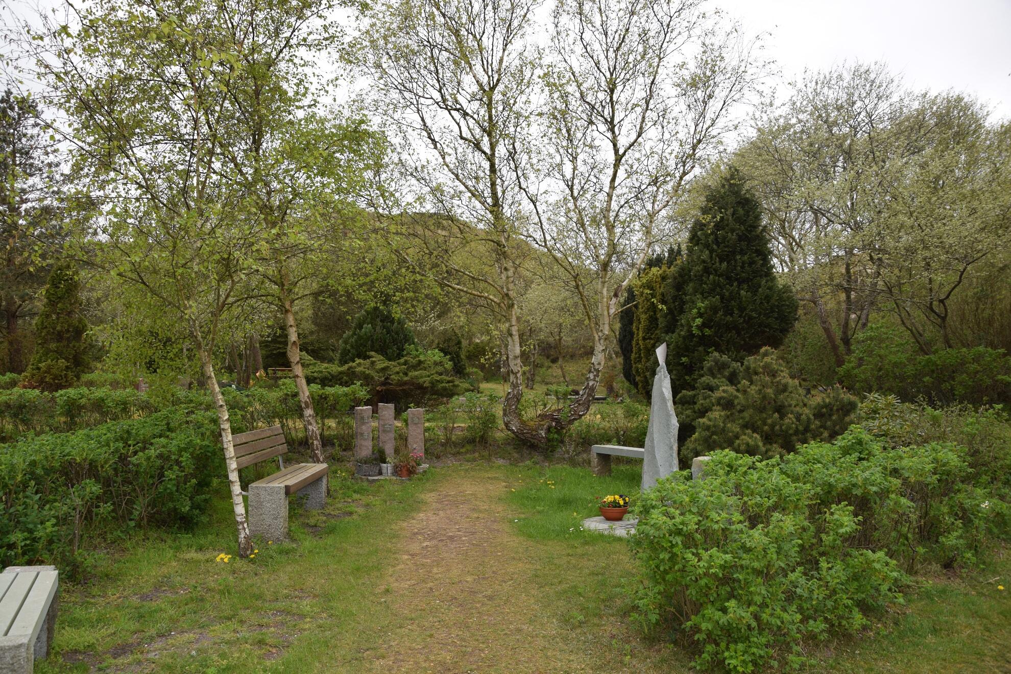 Trauerecke auf dem Lister Friedhof