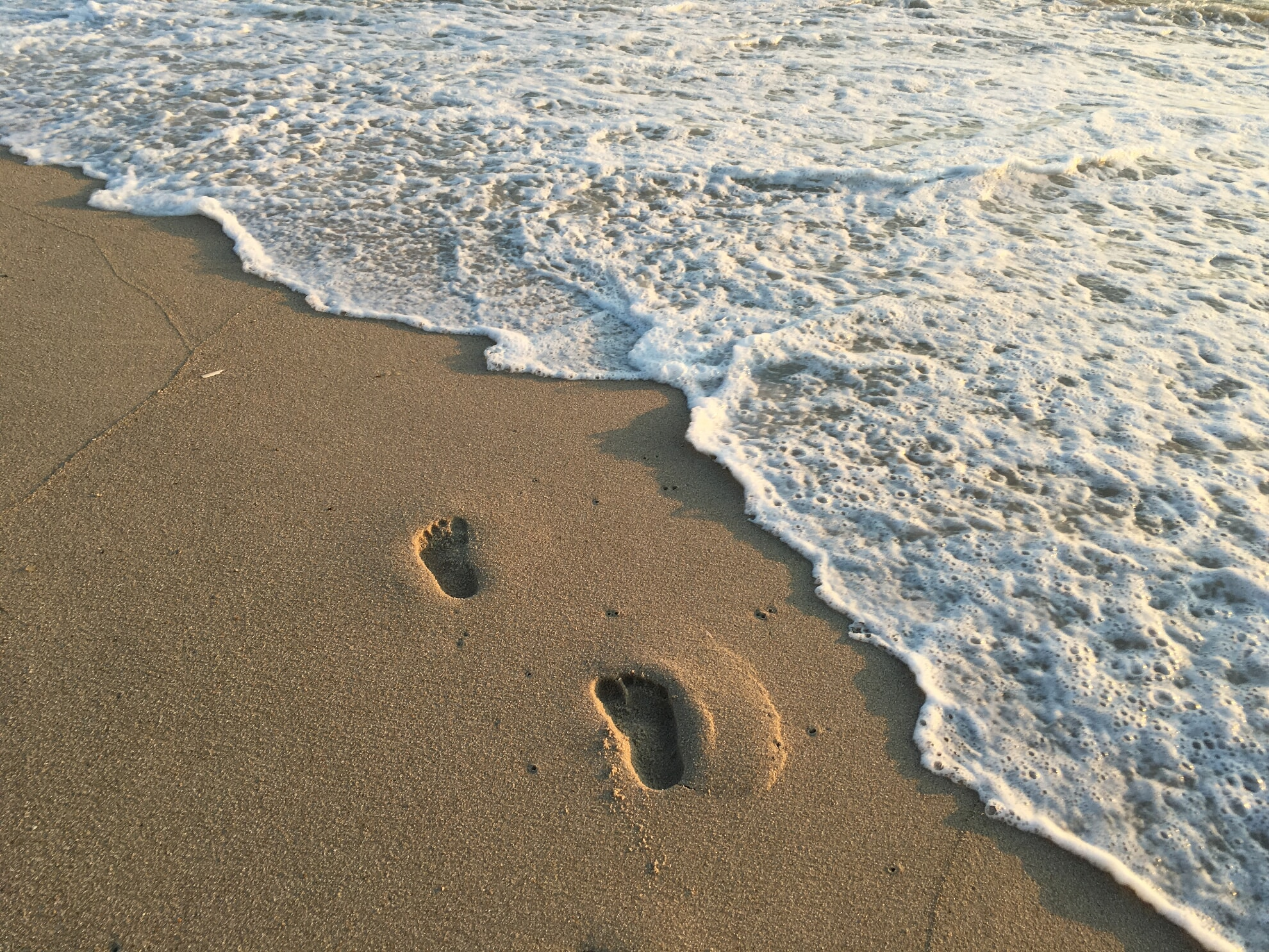 Fußabdrücke hinterlassen