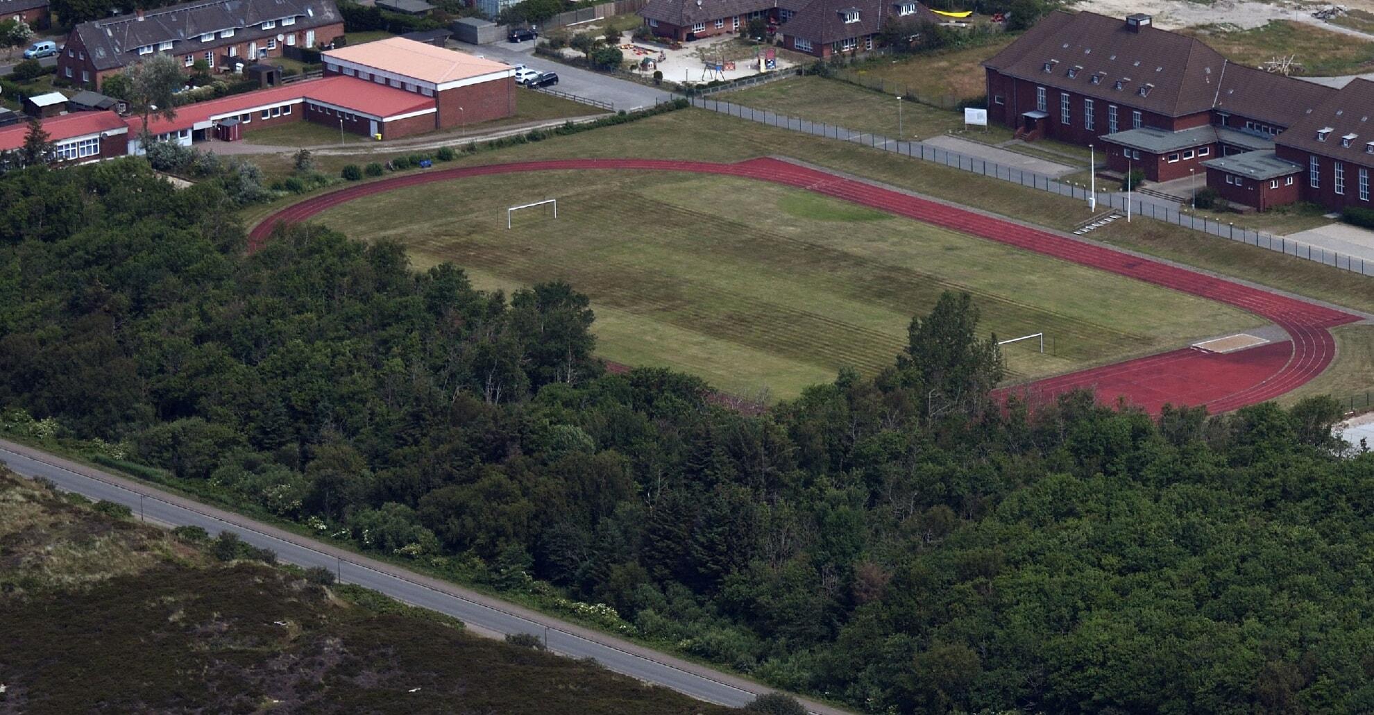 Sportplatz aus der Vogelperspektive