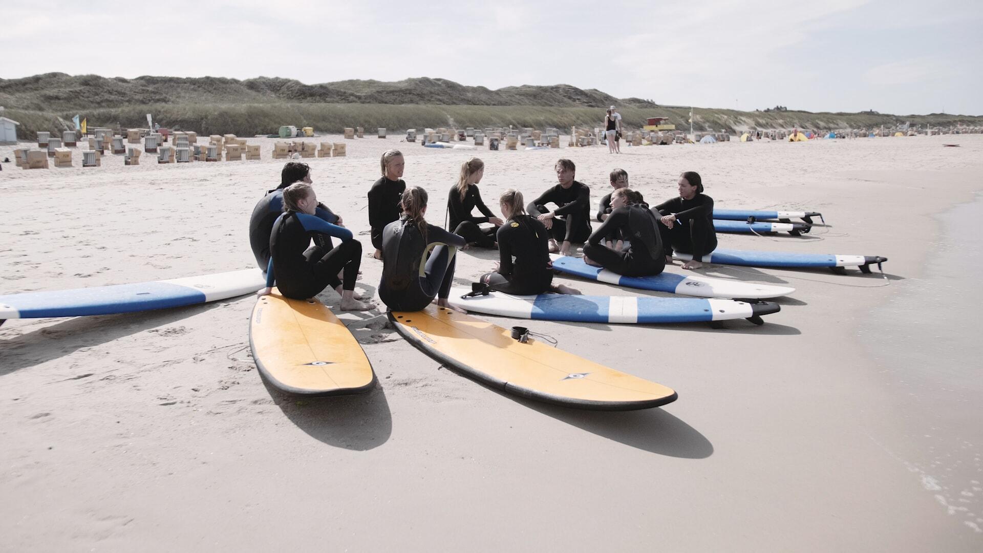 Kurse im Wellenreiten