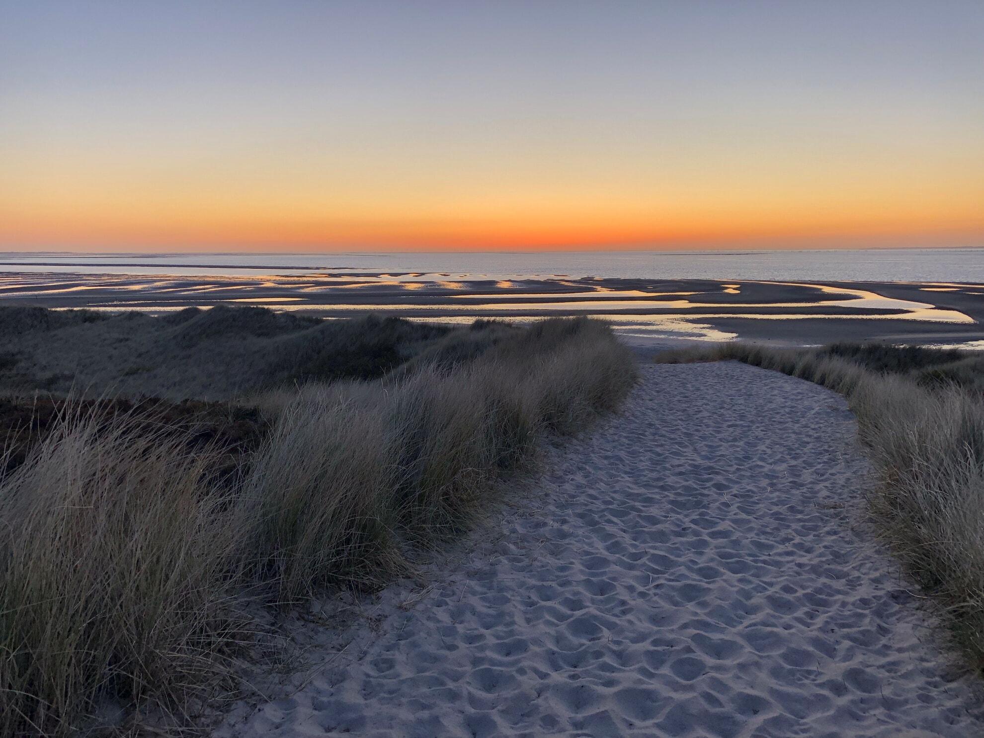 Strandübergang am Möwennest mit Blick auf das Wattenmeer