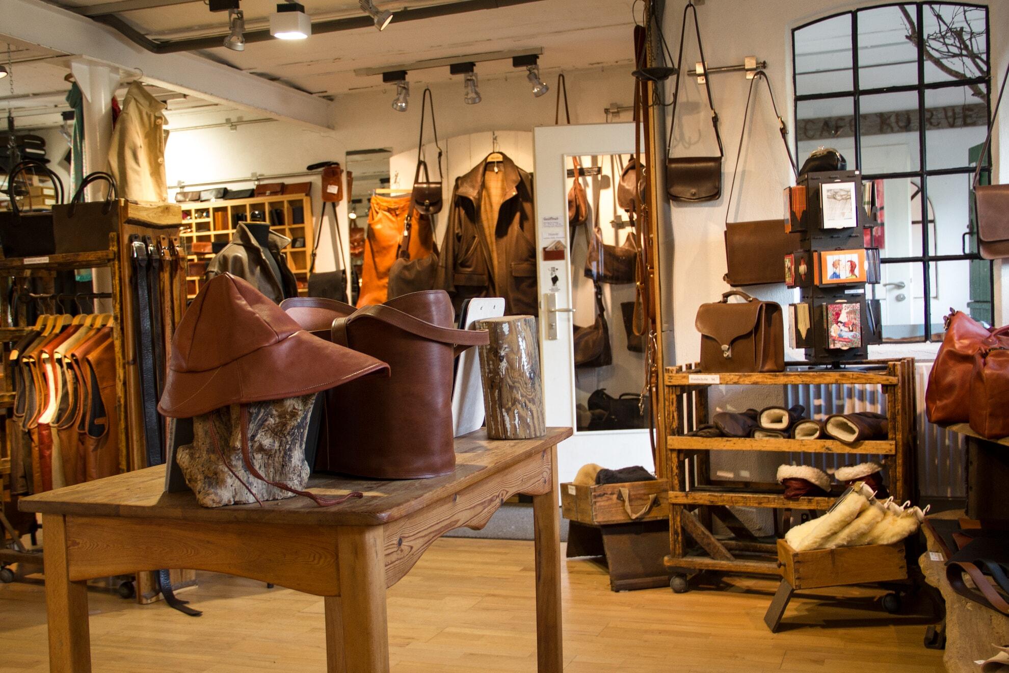 Auslage Lederwerkstatt