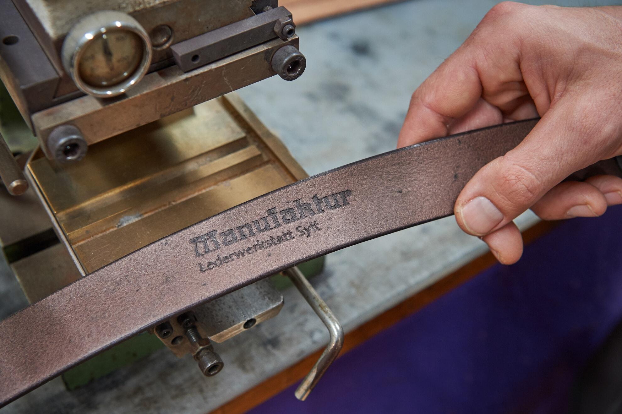 Handgearbeiteter Ledergürtel