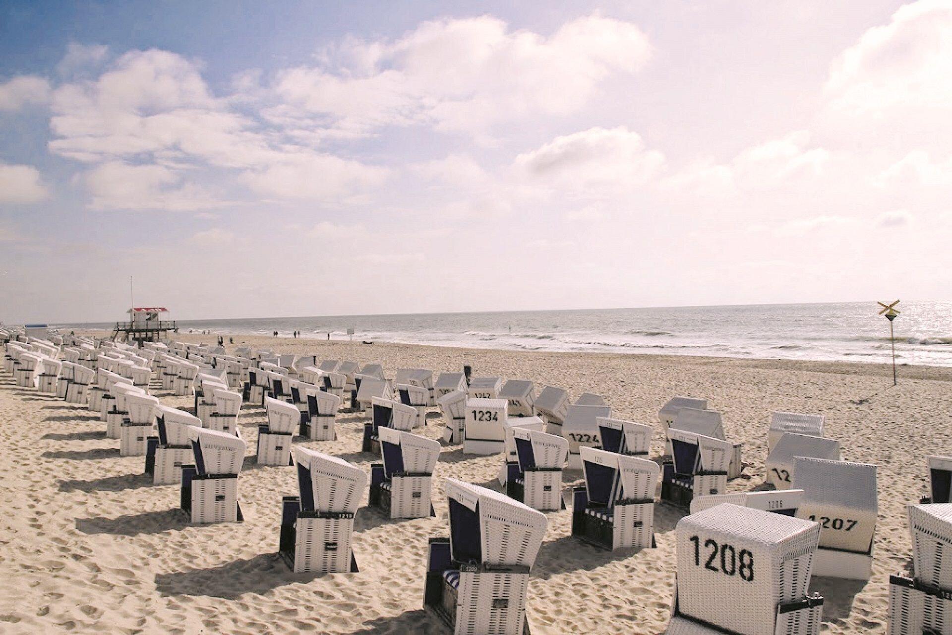 Hauptstrand mit Strandkörben