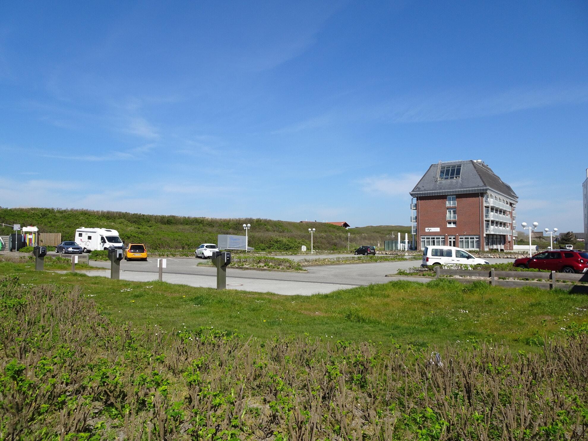 Großer Parkplatz in Westerland