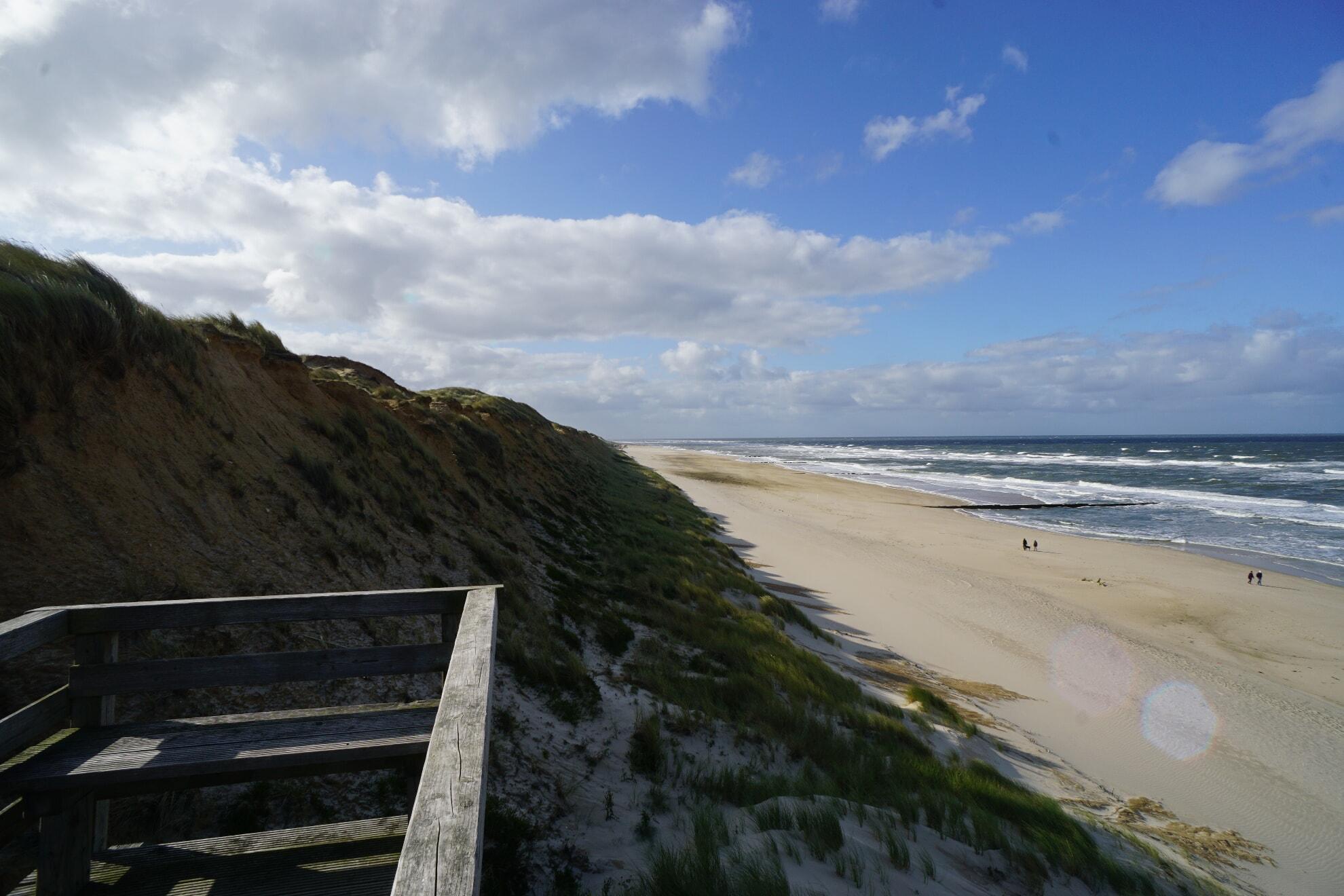 Strandübergang am Campingplatz in Kampen