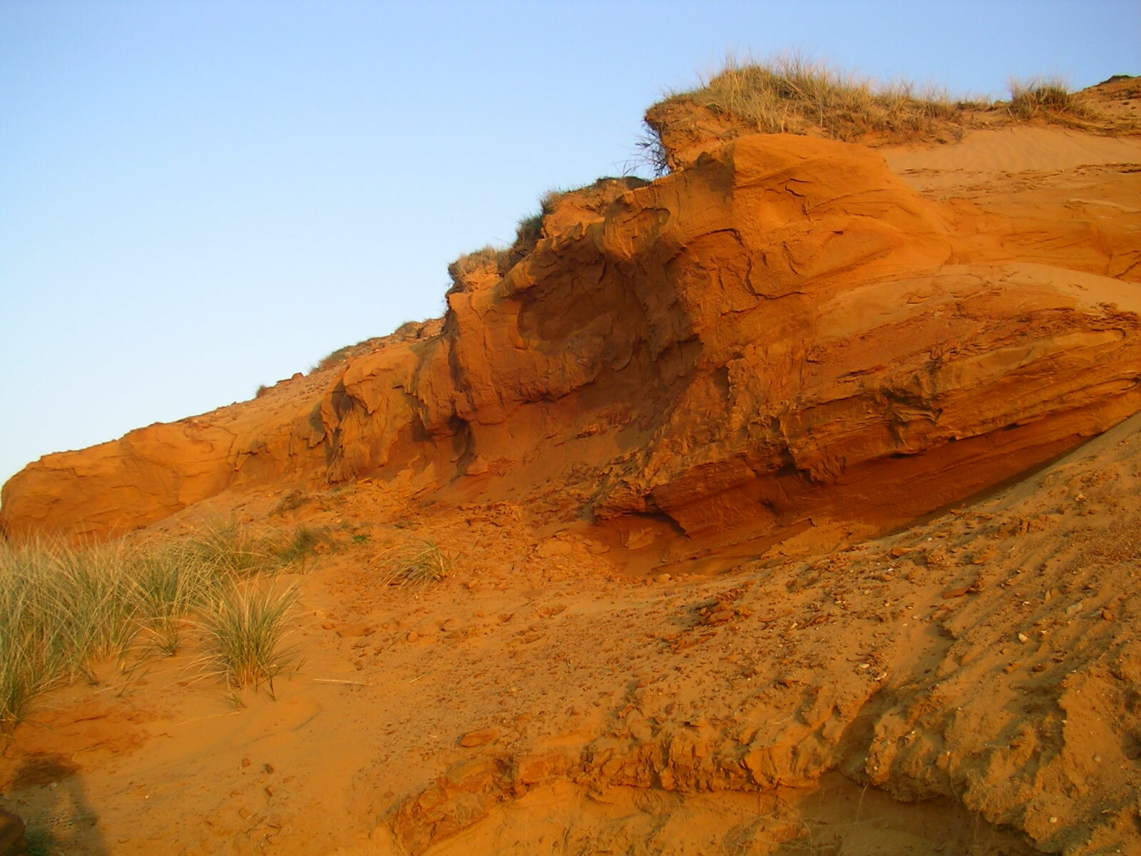 Morsum Kliff im Abendlicht