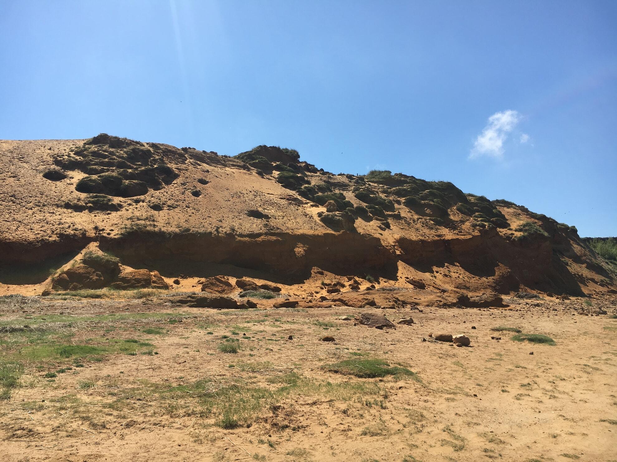 Das Morsum Kliff von unten