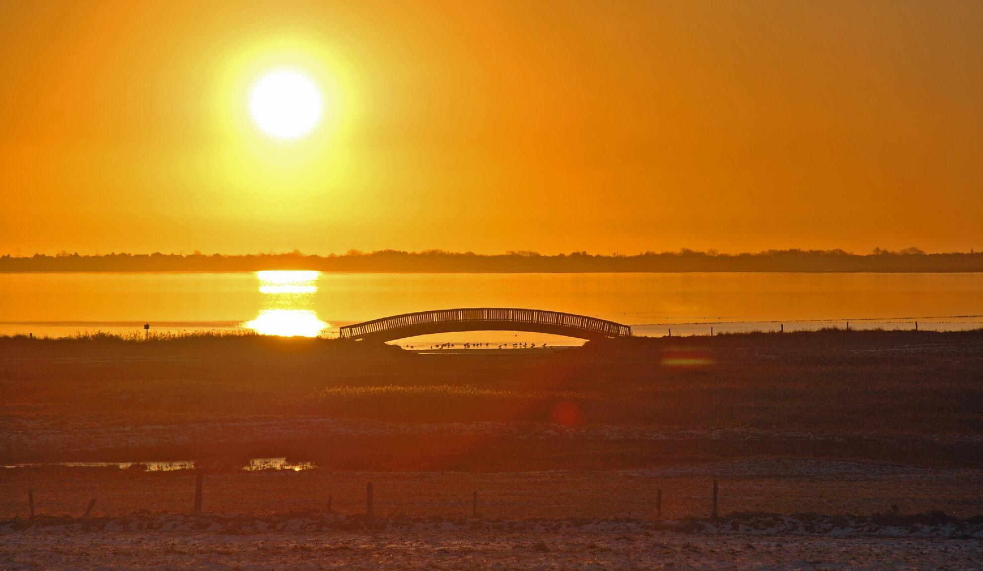 Lügenbrücke bei Sonnenaufgang