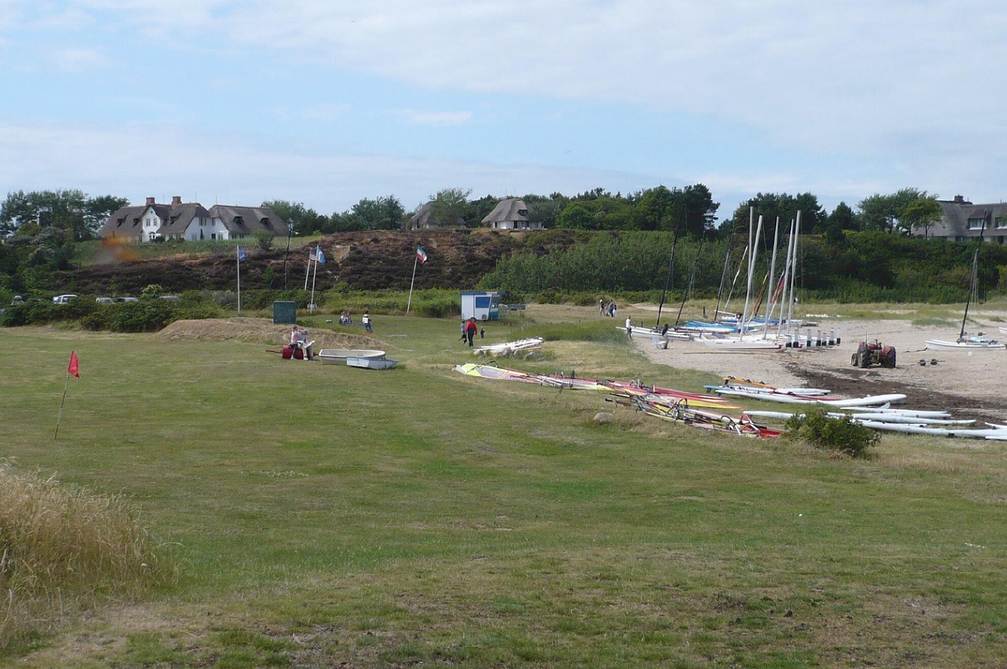 Gelände der Surfschule syltsurfing