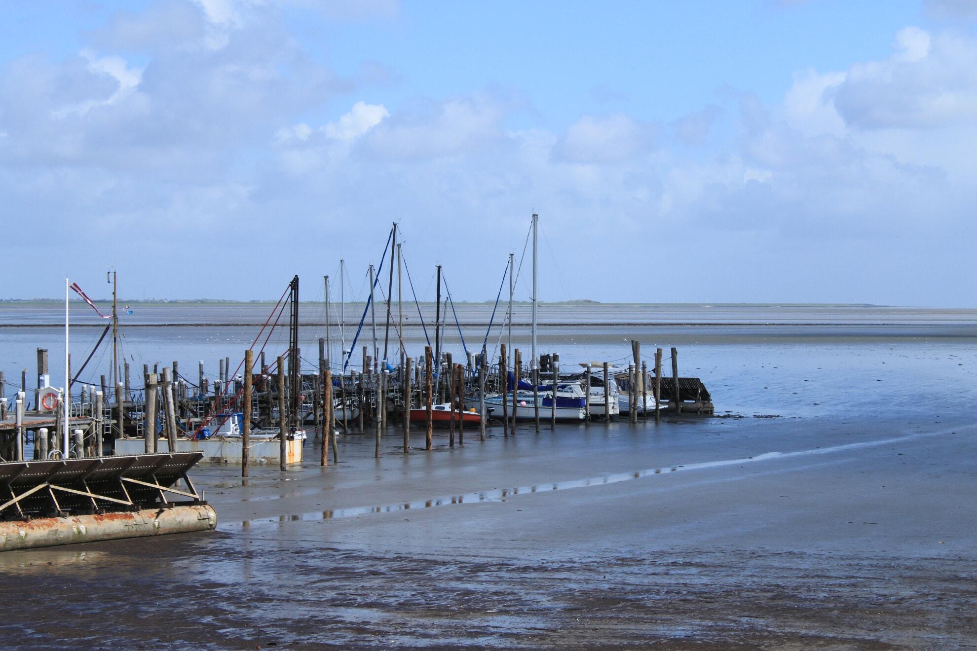 Rantumer Hafen bei Ebbe