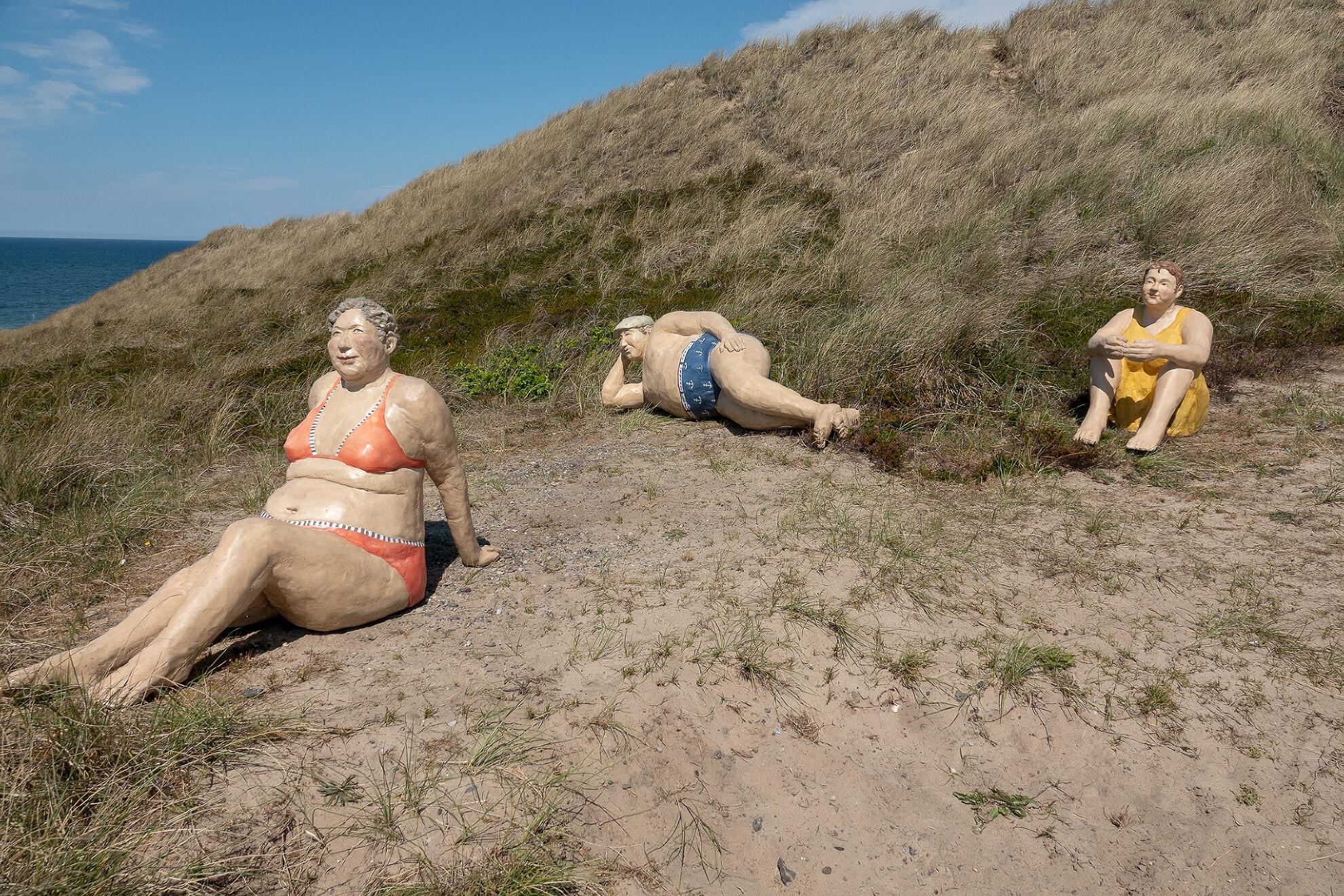 Die Picknicker am Weg zum Strand