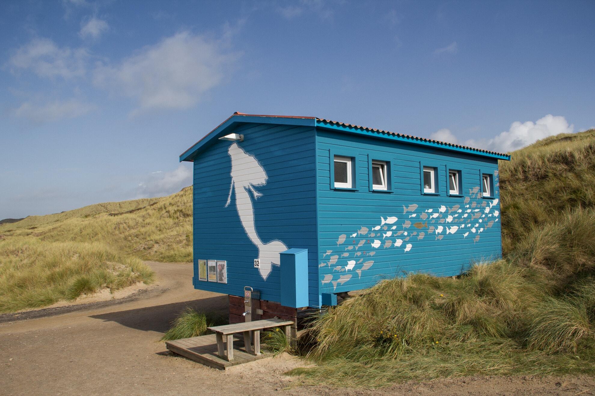 Toilette am Strandübergang Dünenwal
