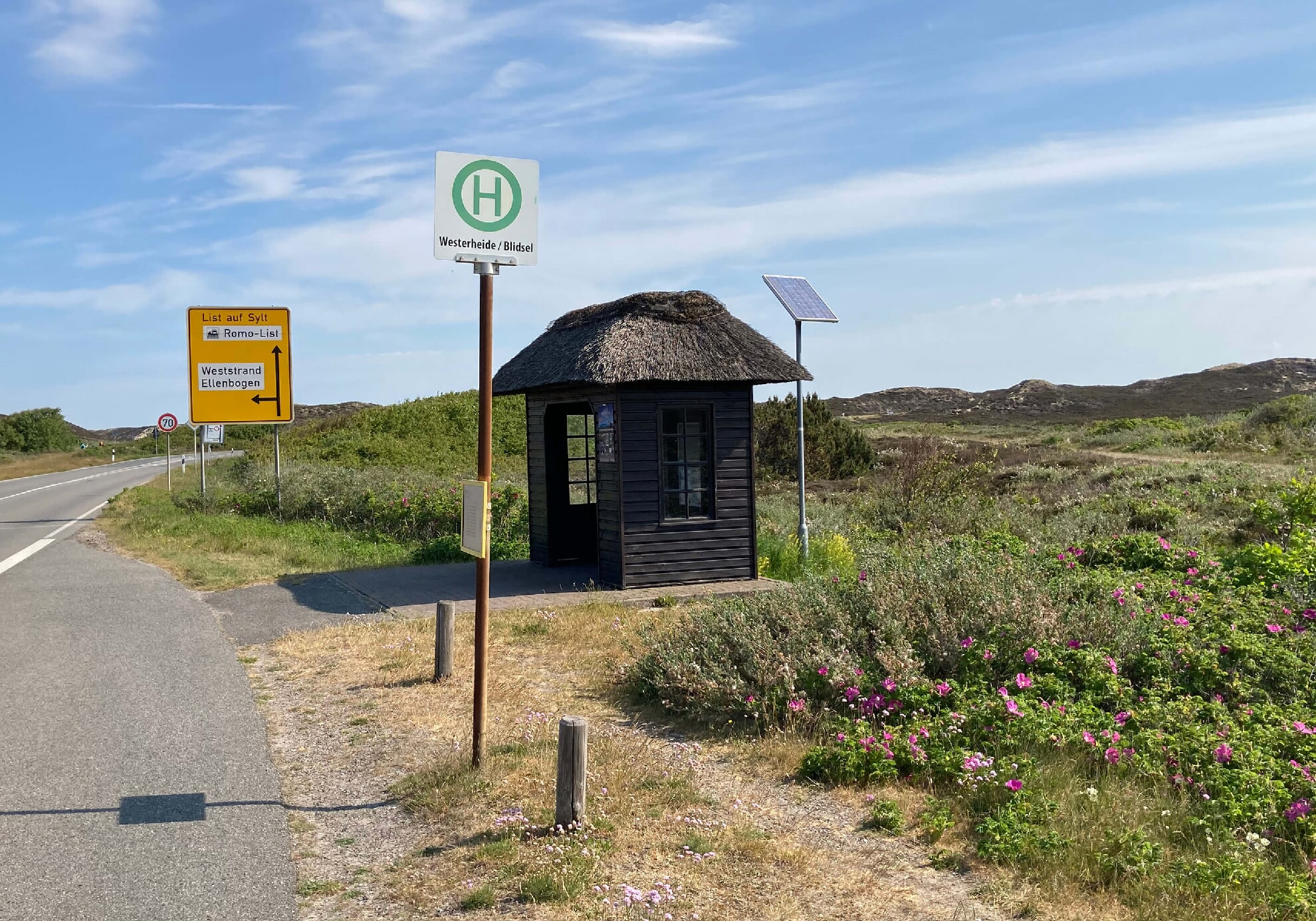 Bushaltestelle Westerheide Richtung List
