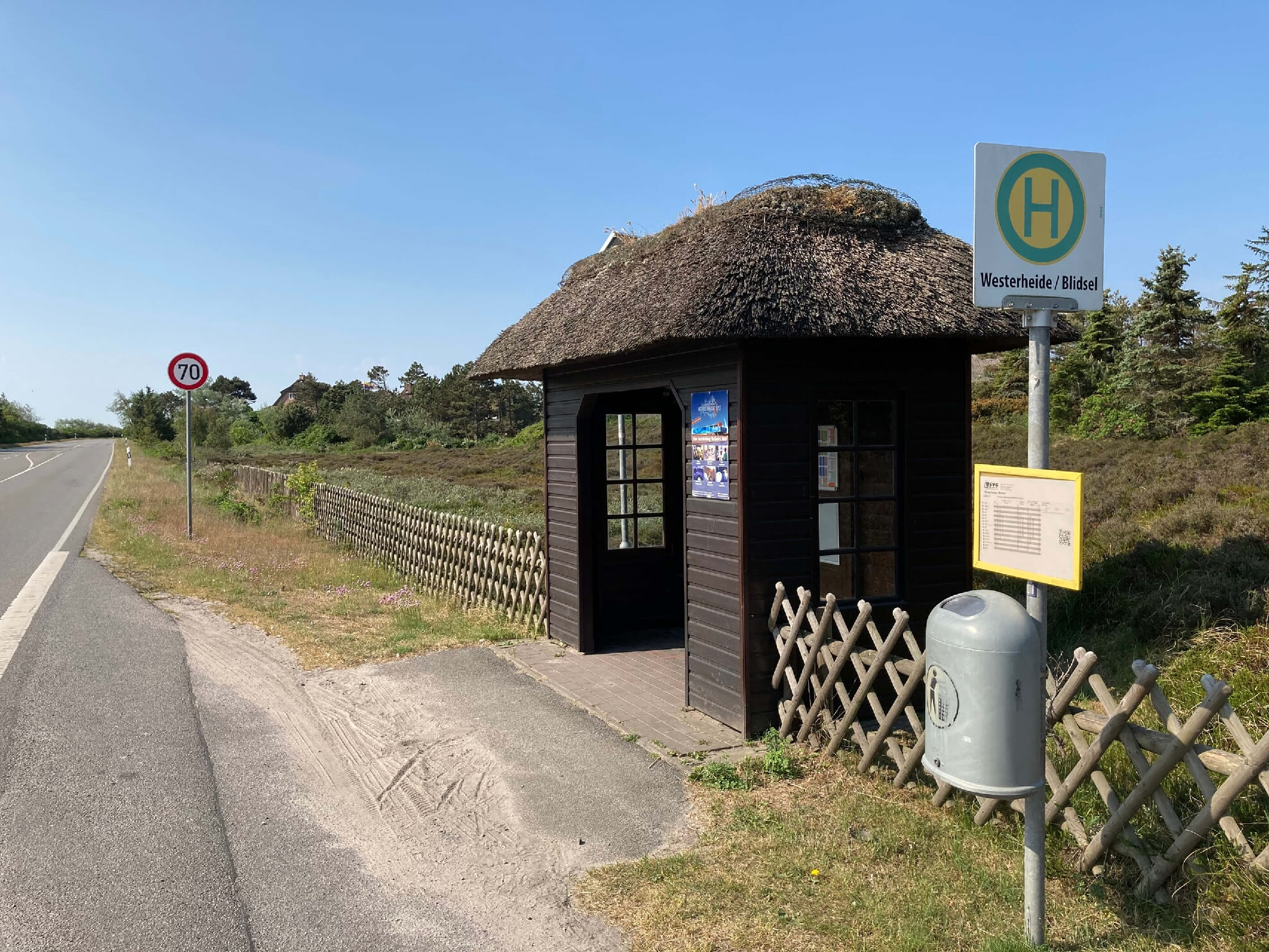 Bushaltestelle Westerheide Richtung Westerland