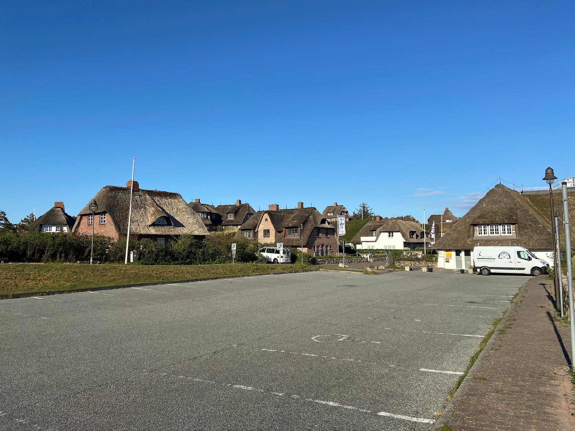 Parkplatz in Rantum