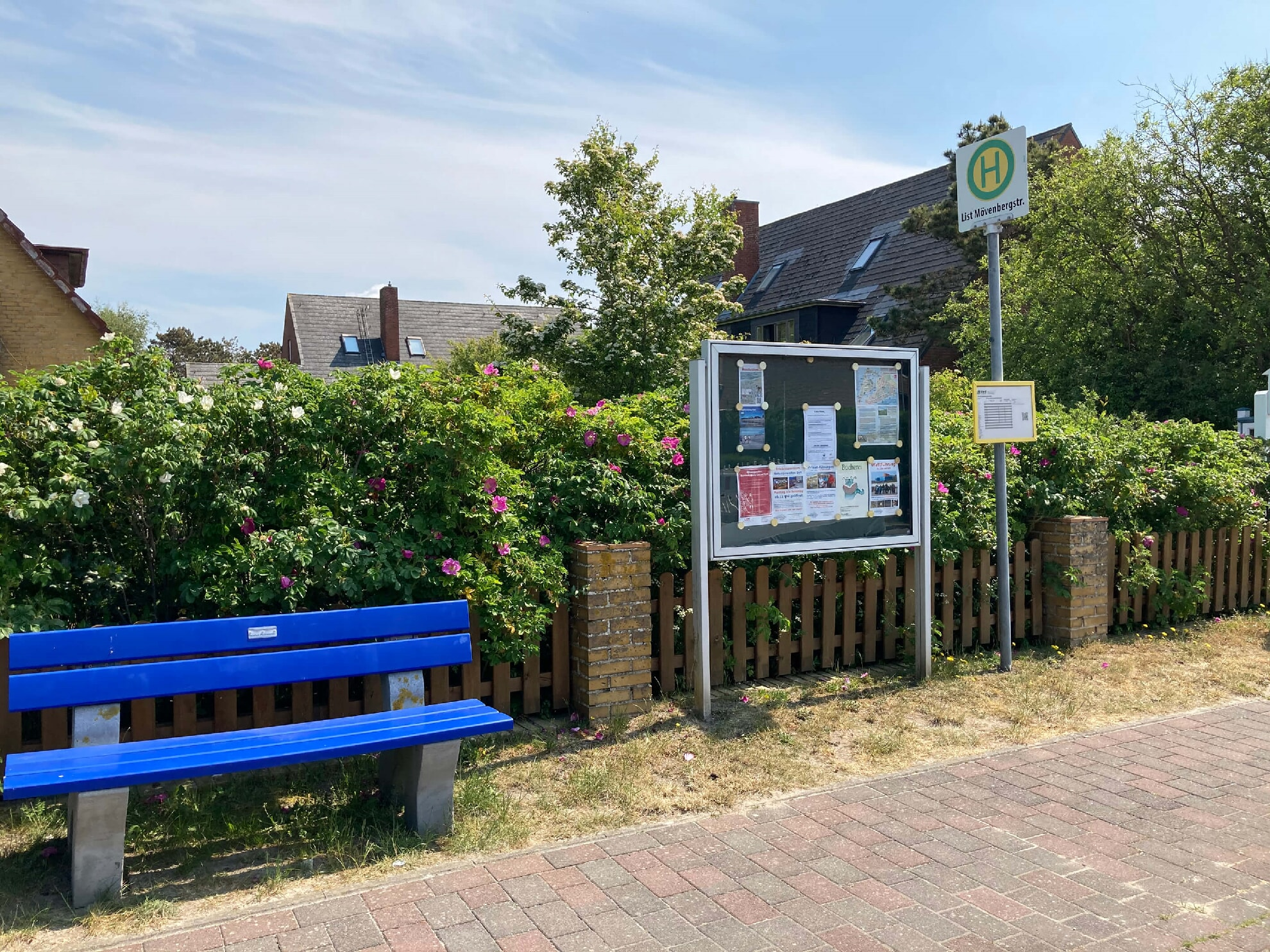 Bushaltestelle Mövenbergstraße Richtung Westerland