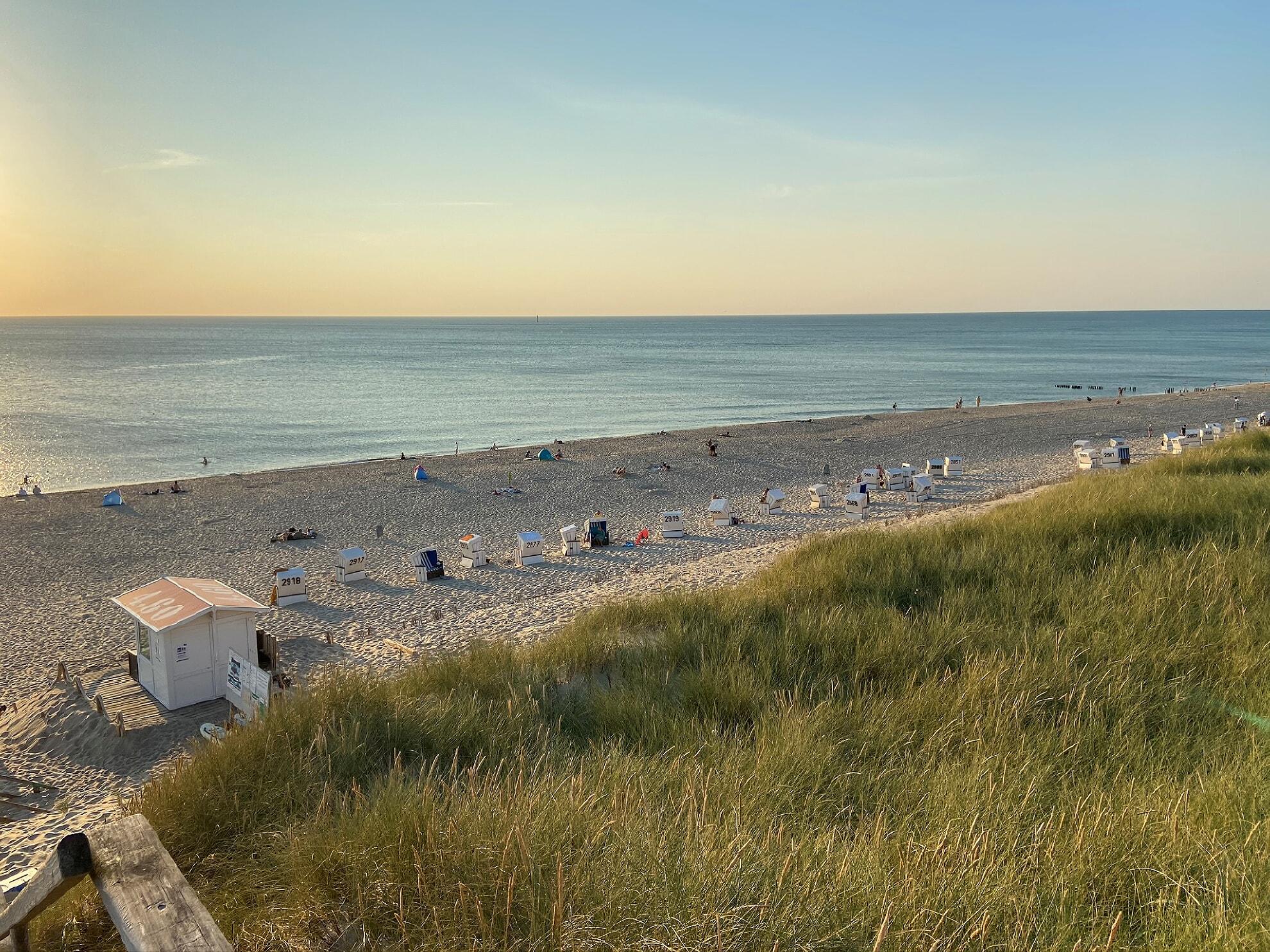 Strand am Westerländer Campingplatz