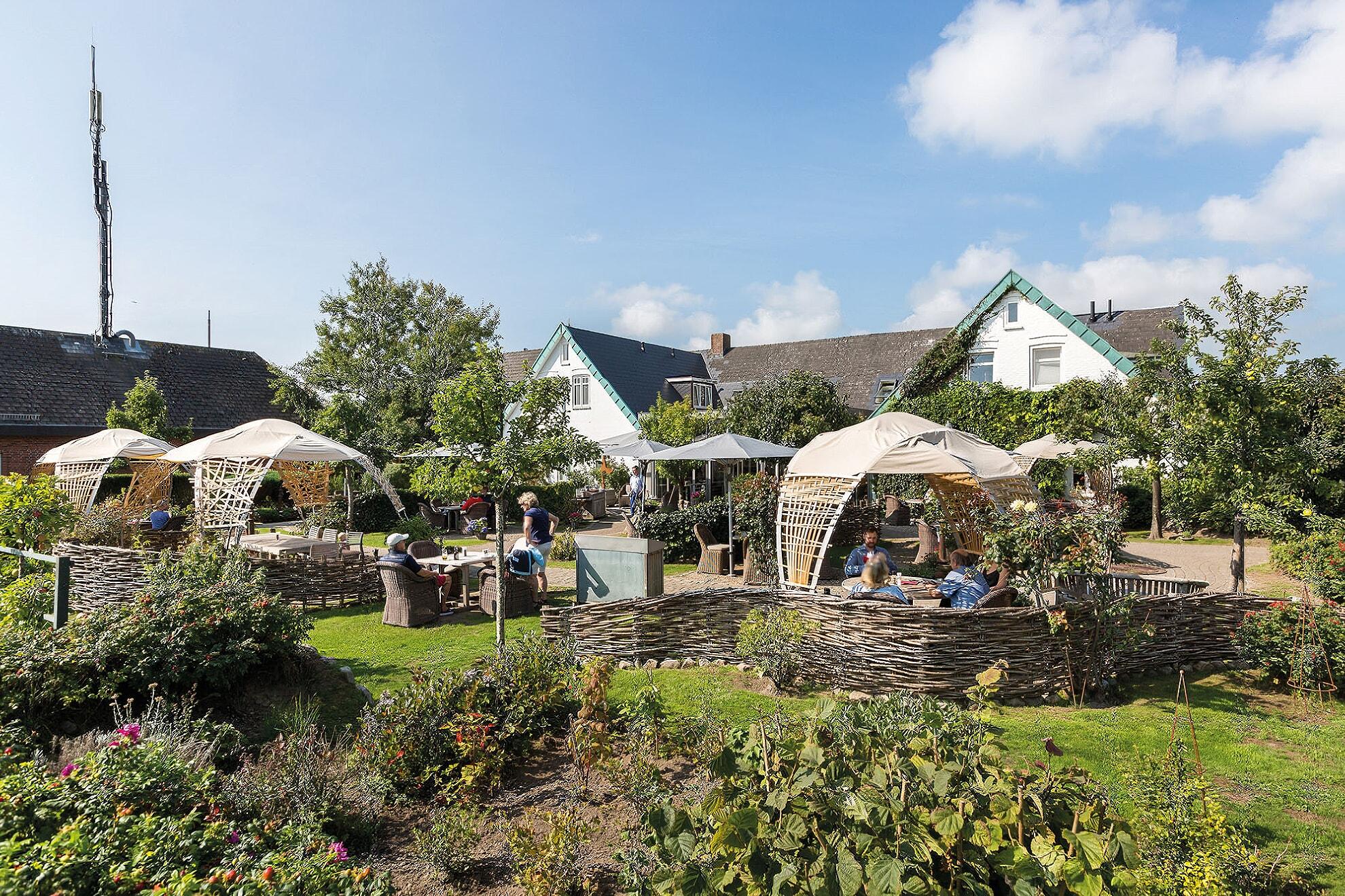 Garten im Café Ingwersen