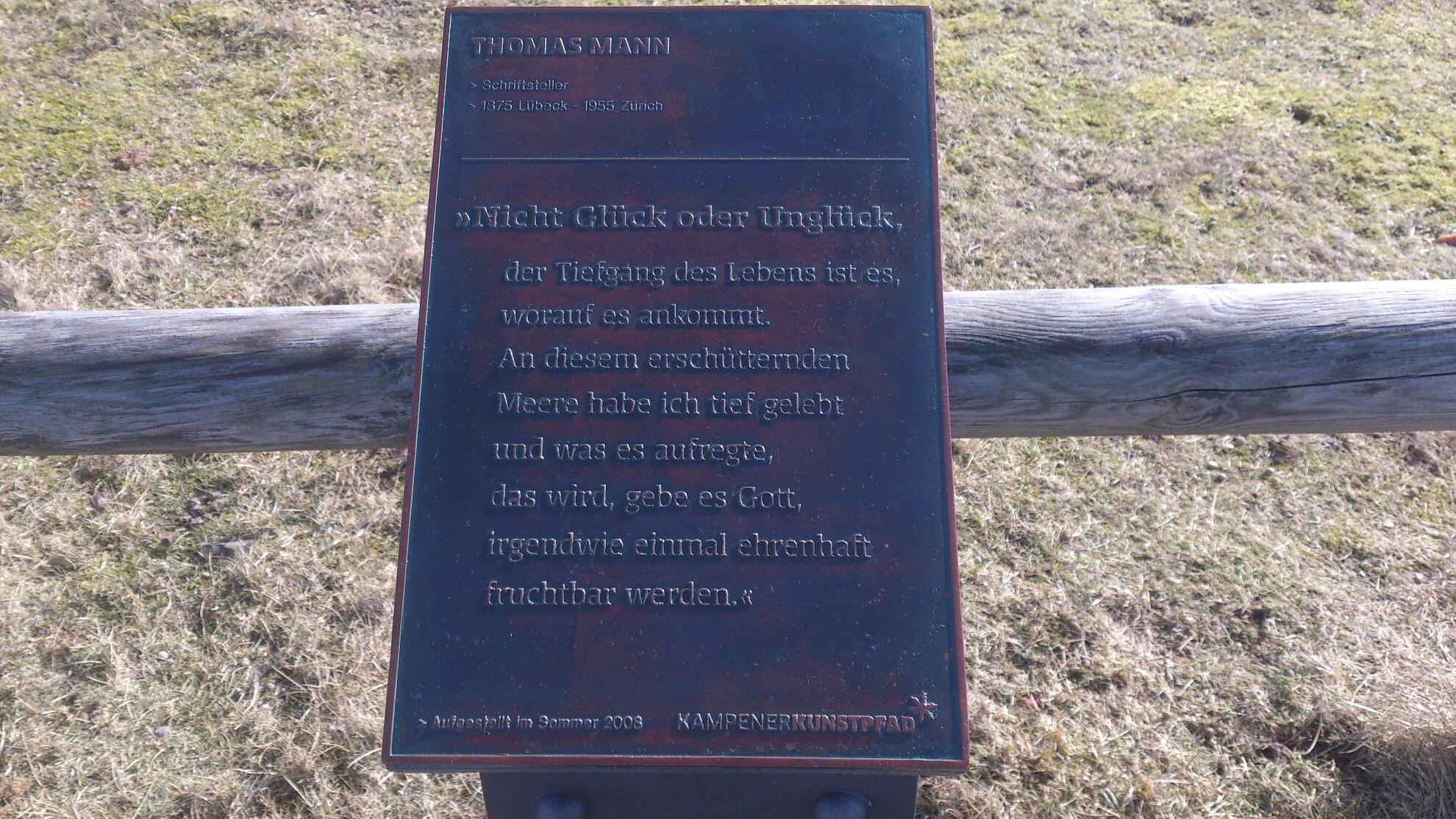 Kunststele Thomas Mann