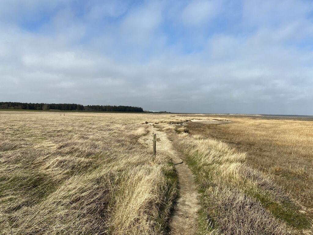 Weg zwischen Rantumer Hafen und dem Ortskern