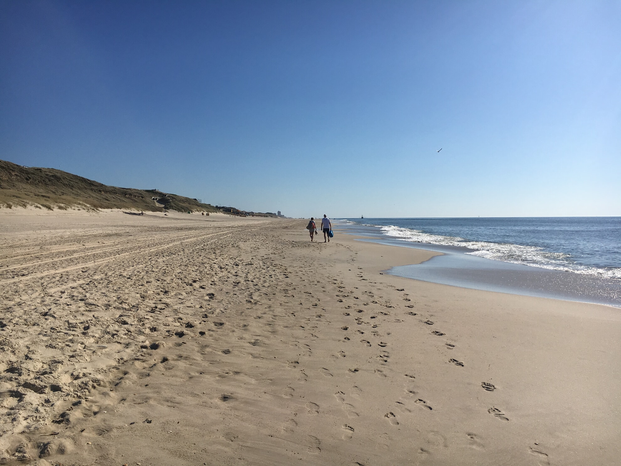 Rückweg am Strand