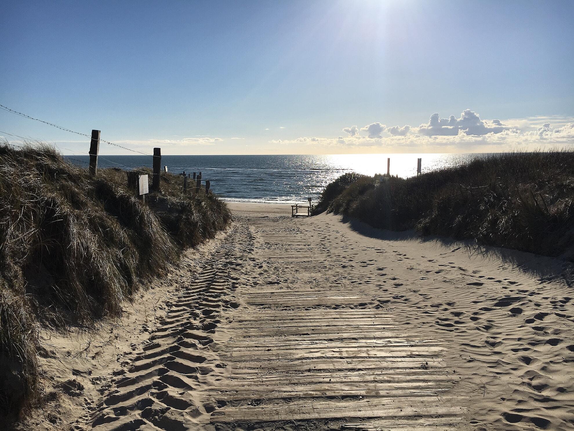 Zwischenstop: Strandübergang an der Oase zur Sonne