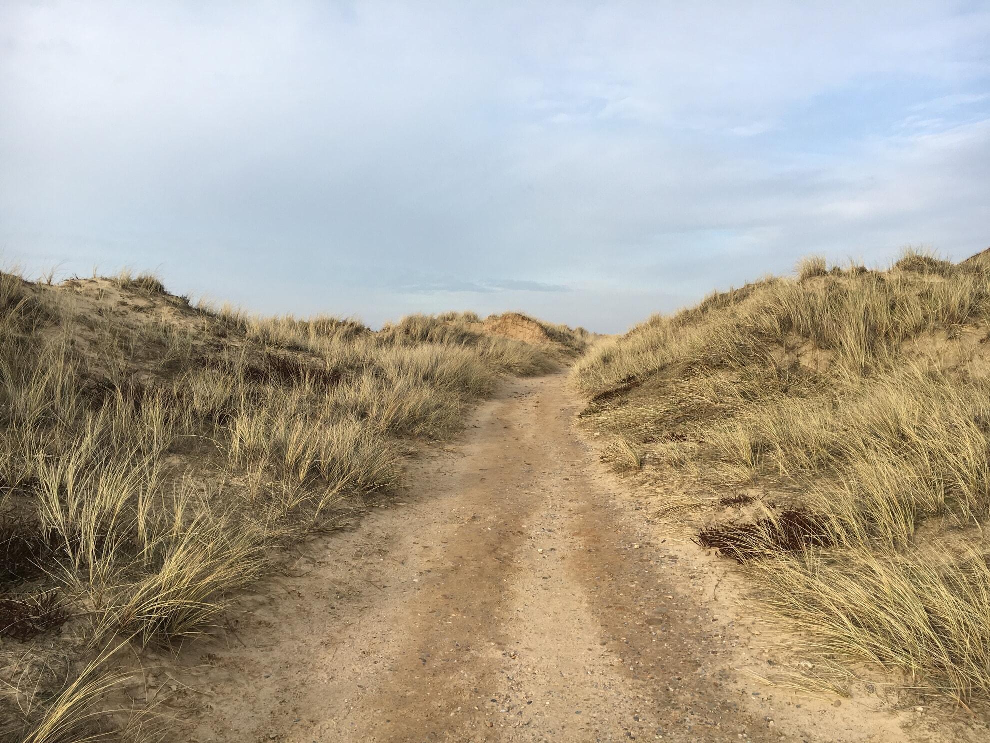 Wanderweg auf dem Roten Kliff