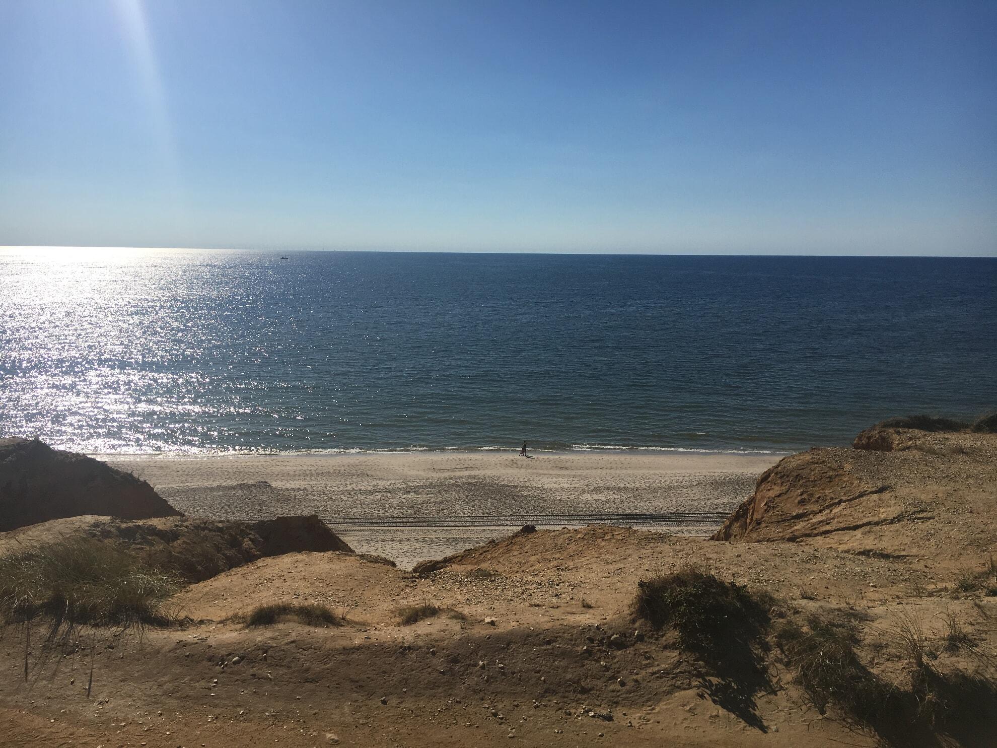 Blick vom Roten Kliff auf die Nordsee