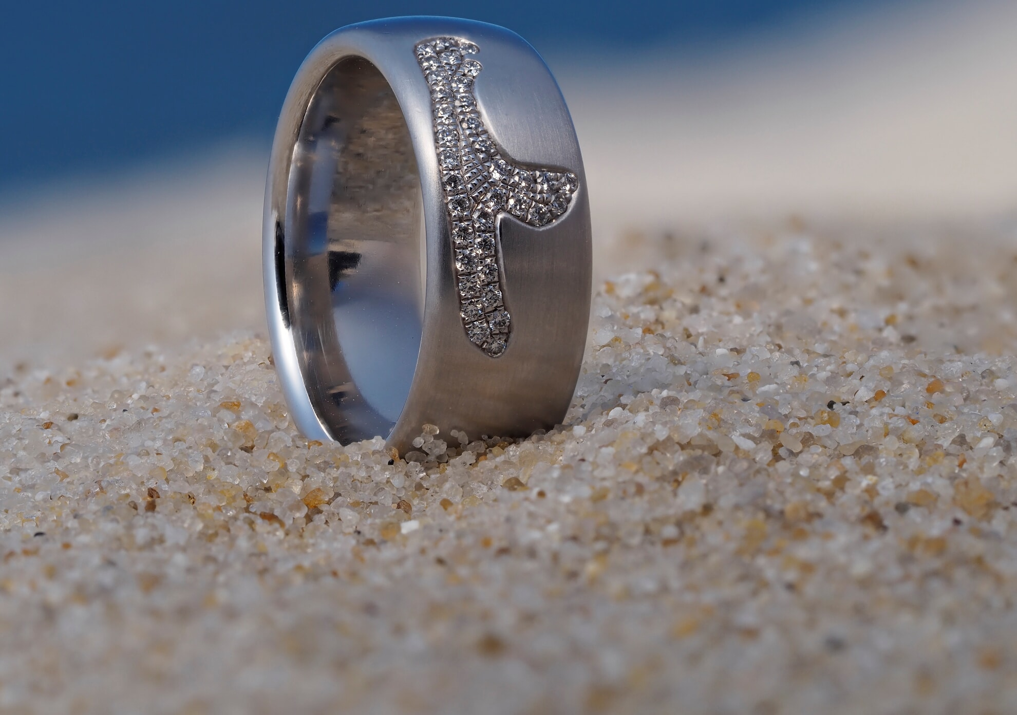 Sylt-Ring pavee Sylter Ring-Atelier
