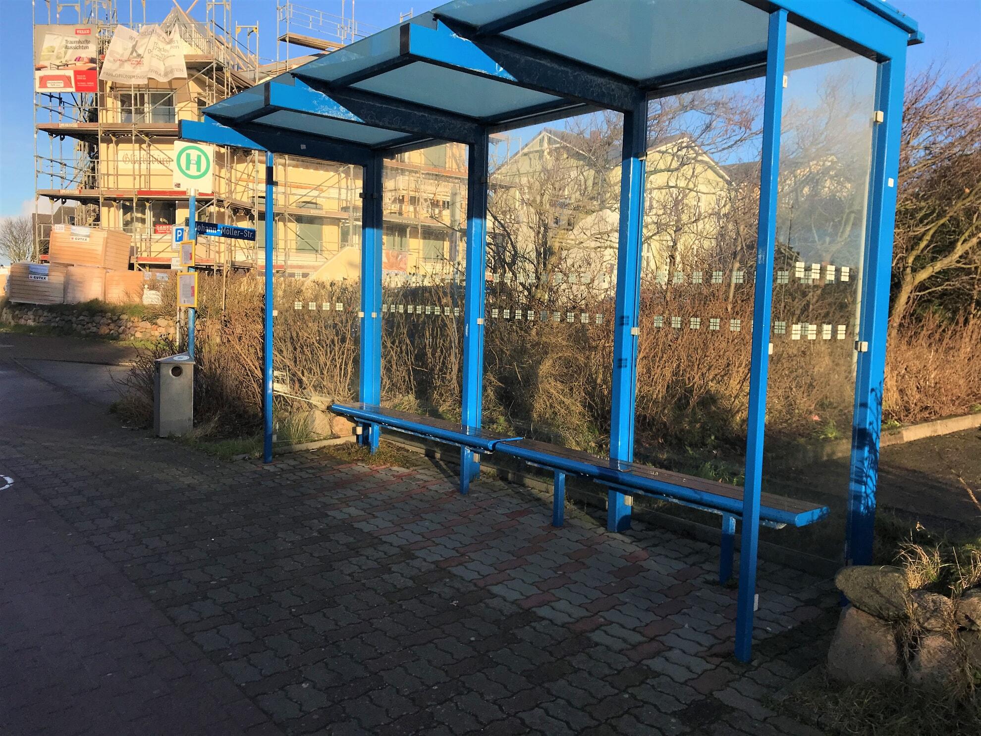 Bushaltestelle A Johann-Möller-Platz