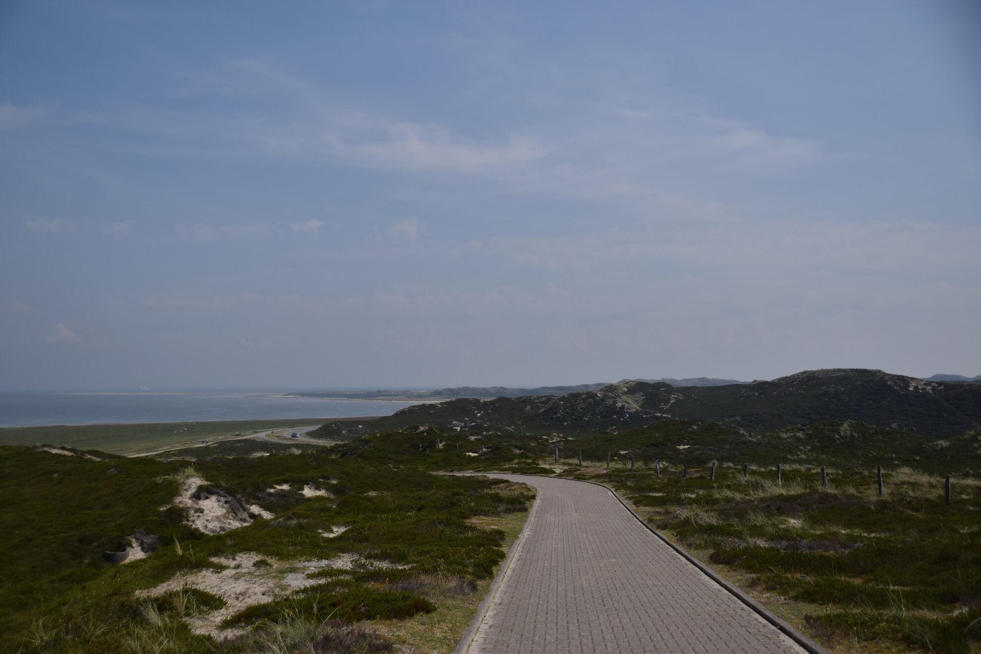 Der Weg auf die Aussichtsdüne vom Ellenbogen aus