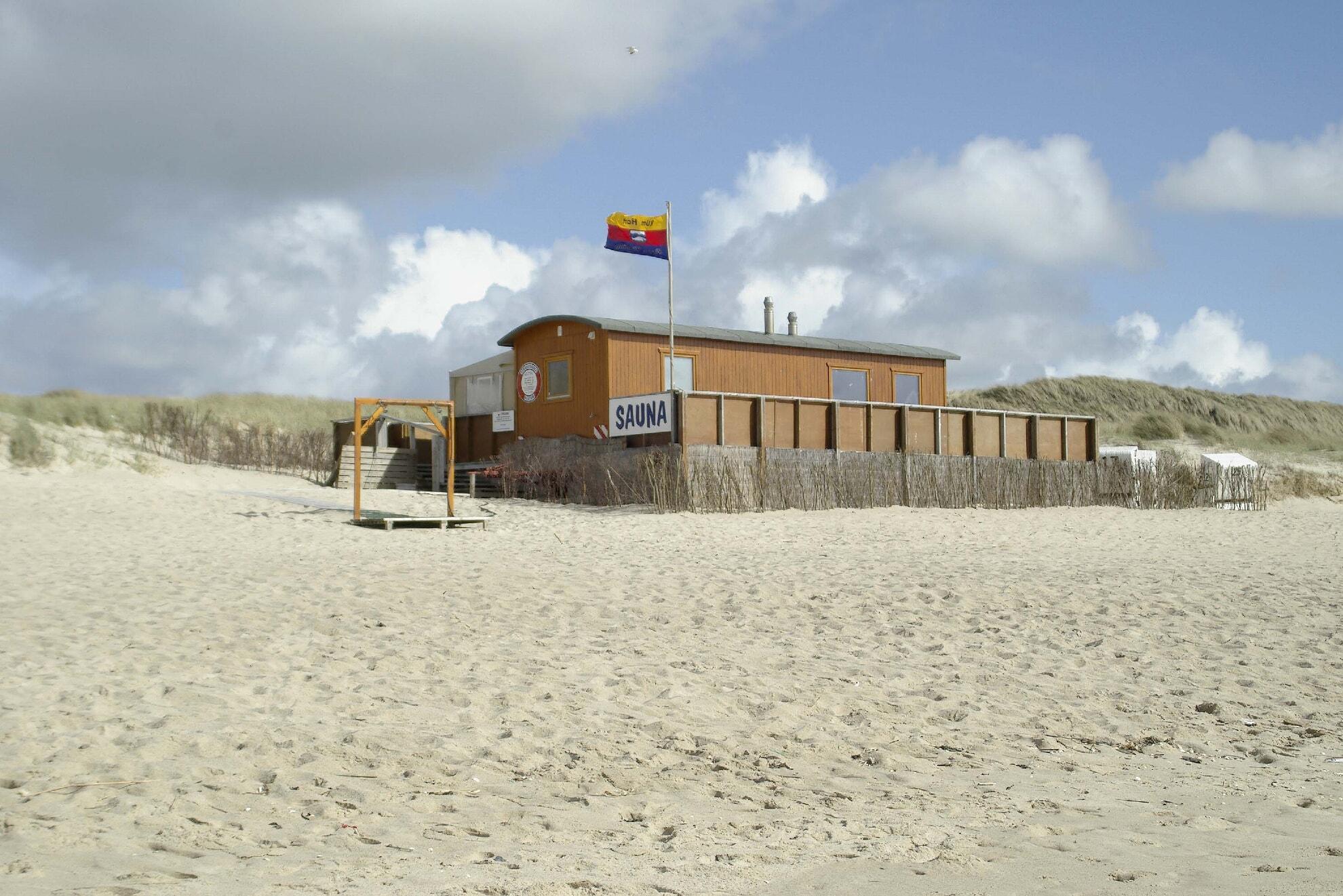 Westansicht der Strandsauna Rantum